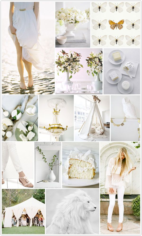 White as my new black.      The white party inspiration board by Camille Styles