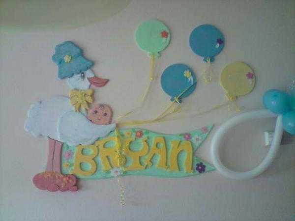 Imagenes en icopor para baby shower imagui fomi baby for Decoracion habitacion bebe goma eva