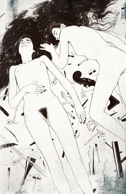 Ilustrações eróticas de Anton Marrast