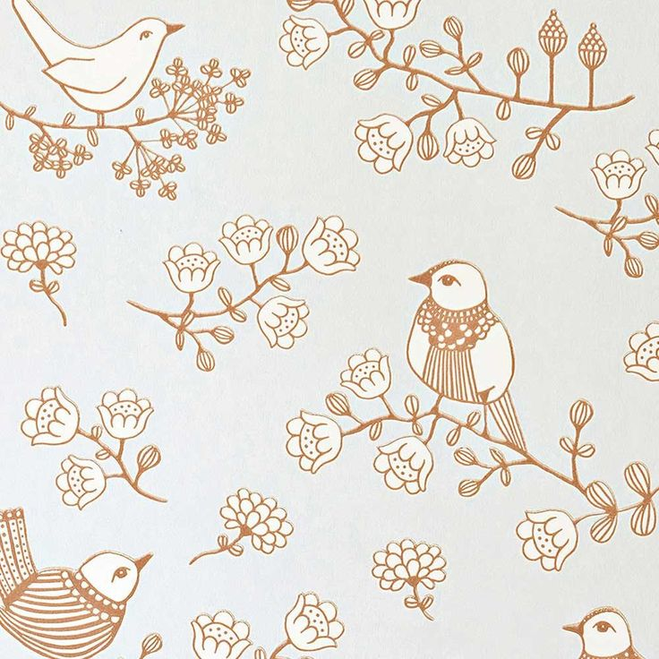 papier peint oiseaux - MAJVILLAN - papier peint enfant original