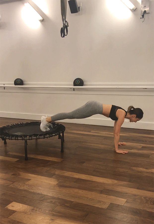 Trampoline Workout: Plank Sequence
