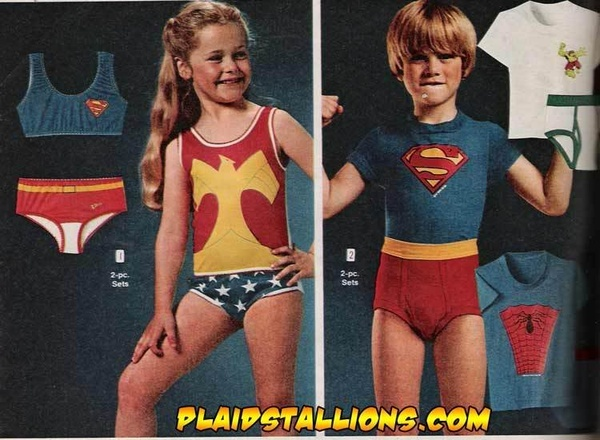 Underoos.  The outfit wasnt complete until my Mom gave me tin foil wrist cuffs! http://media-cache8.pinterest.com/upload/218283913159148669_BoizVpEb_f.jpg crollygirl time warp