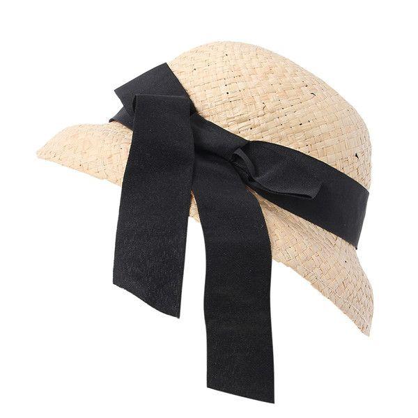 Дешевое 10 Pcs/bag Wholesale Foldable Summer Beach Straw Sun Hats for Women Dome Raffia Ribbon Visor Caps for Ladies Chapeu Feminino EUA, Купить Качество Летние шляпы непосредственно из китайских фирмах-поставщиках:                  Fashion Wool Hat With Ears Kitty Cat Fedora Hats For Women Kids Girls Chapeu Multi-Color Choose Christm