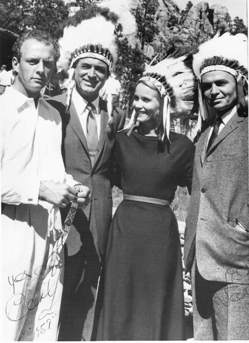 Cary Grant, Eva Marie Saint, and James Mason on the set of North by Northwest... this is too funny!