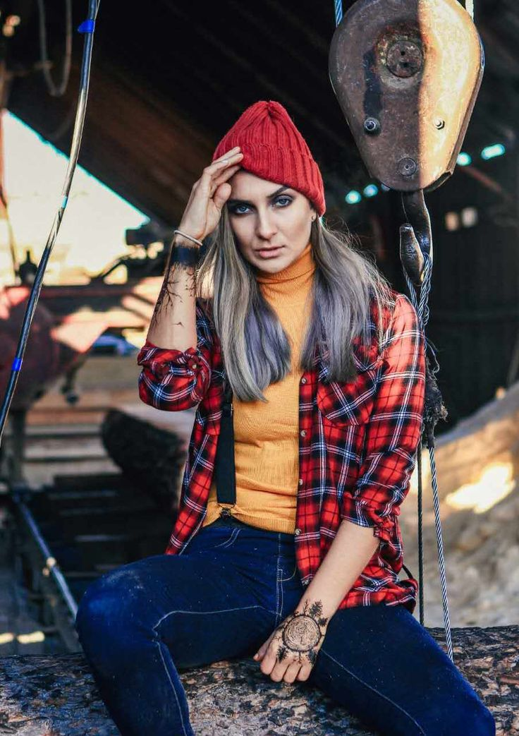 Lumberjack  Style  Red hats  Color hair