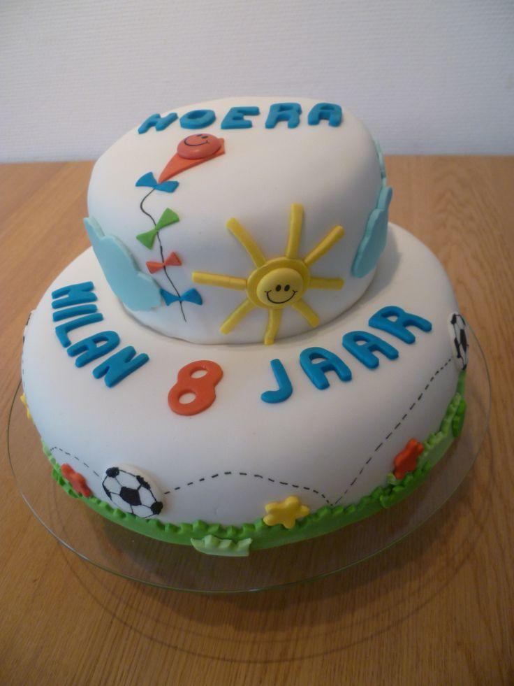 Verjaardagstaart Milan 8 jaar