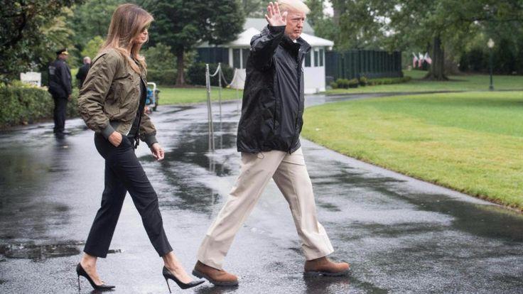 US-Präsident Donald Trump (71) und seine Frau Melania