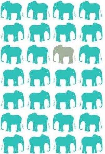 Unique elephant background | @Valerie Uhlir | grey | gray | teal | picture | wallpaper | visit blog for more!