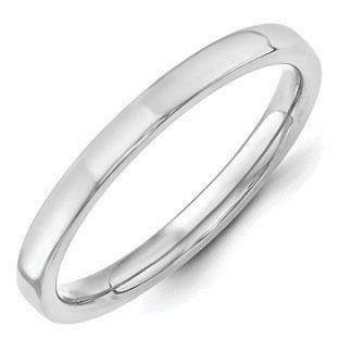 10k White Gold 12 Mm Standard Flat Comfort Fit Wedding Band Engagement & Wedding