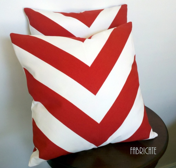 Wide Stripe Chevron Red-Pillow CoverRed Pillows Covers, Chevron Pattern, Chevron Pillows, Living Room, Wide Stripes, Stripes Chevron, Red Chevron, Ikea Sofia, Chevron Red Pillows