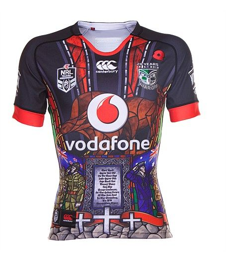 Shop here for NZ Auckland Warriors NRL Rugby League Jerseys and shorts - NZ Warriors 2015 Anzac Commemorative Jersey