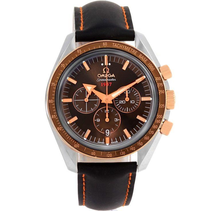 13276 Omega Speedmaster Broad Arrow Steel Rose Gold Watch 321.93.42.50.13.001 SwissWatchExpo