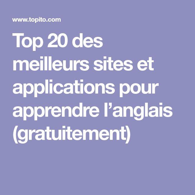 Top 20 des meilleurs sites et applications pour apprendre l'anglais (gratuitement)