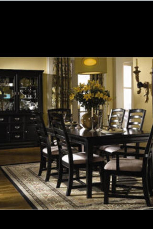 Black Wood Dining Room Set