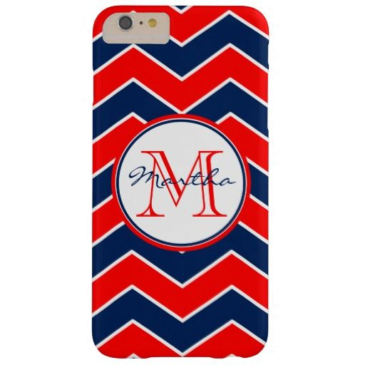 Personalized Red White Blue Chevron Pattern Stripe Barely There iPhone 6 Plus Case This personalized custom American patriotic case features a red white and blue trendy zig zag chevron pattern. Just in time for the fourth of July independence day holiday!