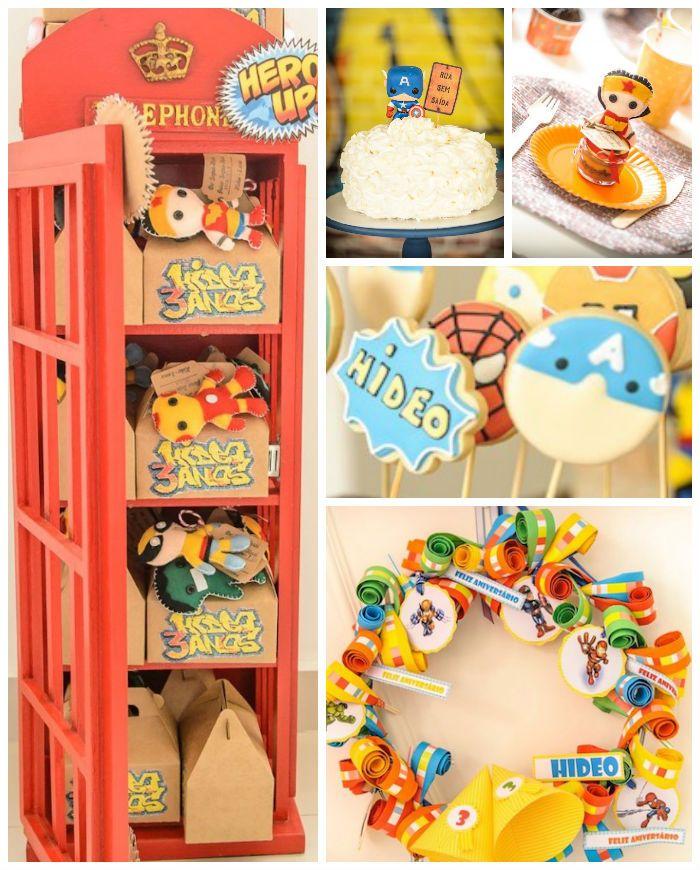 Superhero Squad themed birthday party Ideas via Kara's Party Ideas