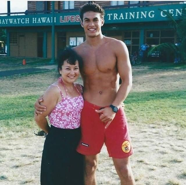When he was on Baywatch: Hawaii. He looks so cute and yet so freaking handsome!  would SO pretend to drown just so he could come rescue me! I would even pretend to drown on purpose! Lol. <3 <3
