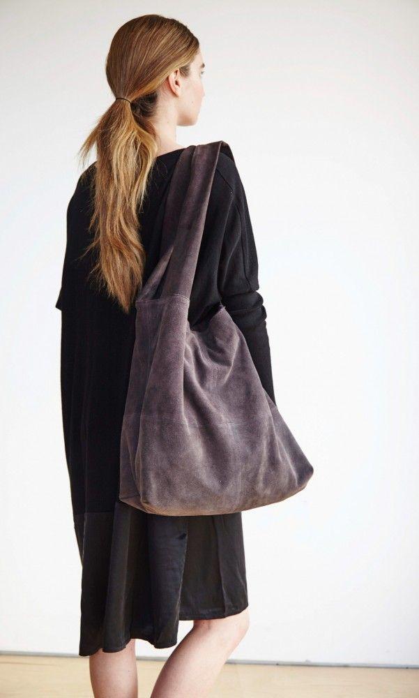Suede sling bag - Plümo Ltd