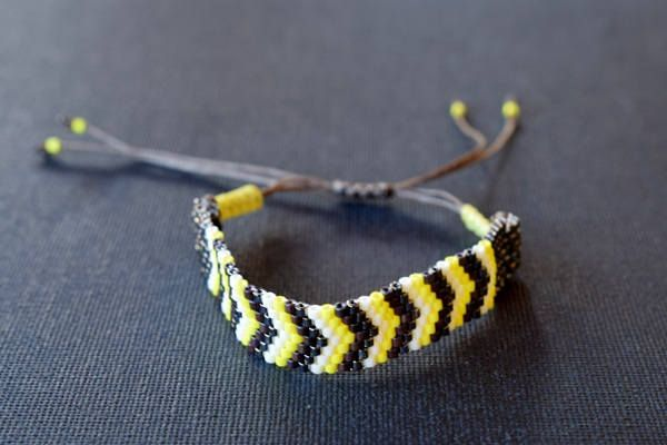 Handmade item.Beaded bracelet.Stitch Peyote.Friendship Bracelet.Mariella's Code by mariellascode on Etsy