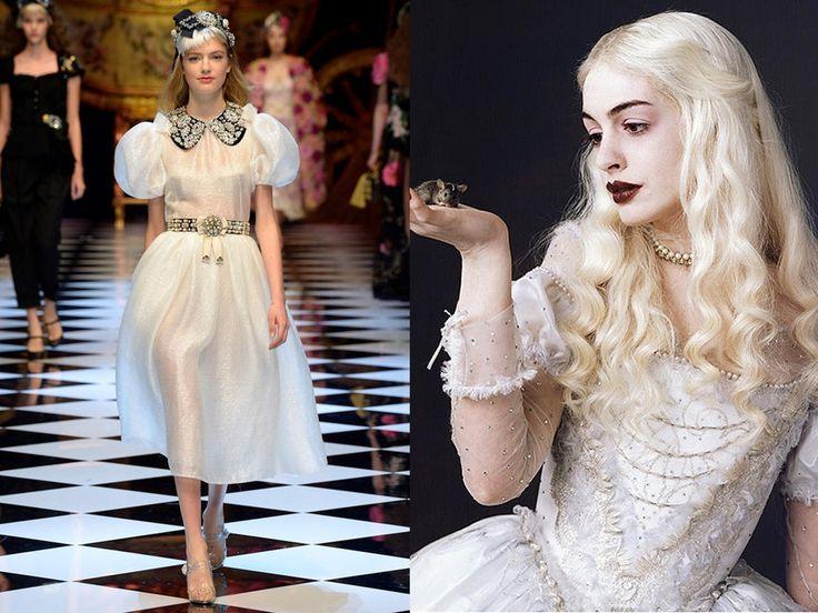 De witte koningin uit Alice in Wonderland