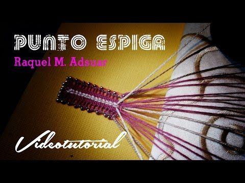 Punto de Espiga de Encaje de Bolillos (nivel avanzado) Raquel M. Adsuar Bolillotuber - YouTube