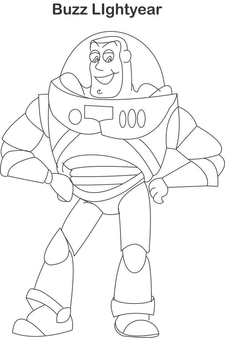Buzz Lightyear Coloring Pages Buzz lightyear coloring page for kids: Toys coloring pages for