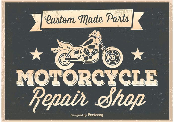 Free vector Vintage Motorcycle Poster #27656