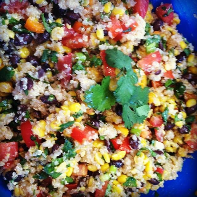 Easy, fast, healthy, delicious, Mexican quinoa salad.
