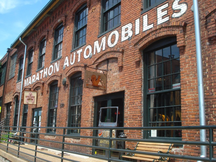 Antique Archaeology,Mike Wolfe of American Pickers store in Nashville.It was an old Marathon Motors factory that had been abandoned until an entrepreneur bought the building and fixed it up housing some other offices across the street as well.