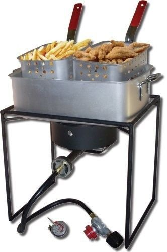 Propane Deep Fryer Basket Cooker Business Fuel Outside Camp Fish Fries Get together. *** Check out more by going to the image