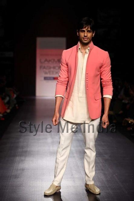 B'wood's new entrant Siddharth Malhotra make his mark as he walks the ramp for fashion designer Manish Malhotra on Day 2 of the Lakme Fashion Week (LFW) Summer Resort 2013