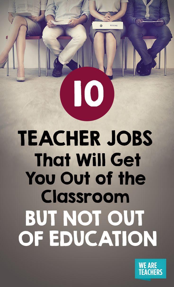 10 Teacher Jobs That Will Get You