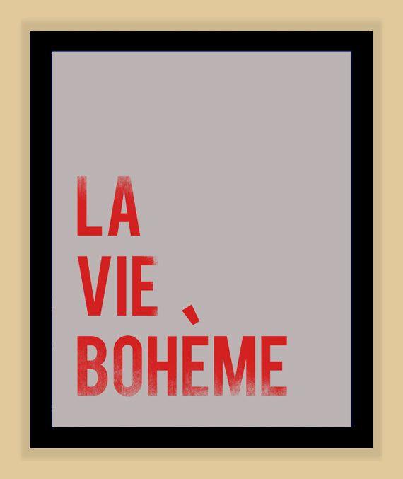 La Vie Boheme RENT Musical Quote modern print poster 8x10 via Etsy