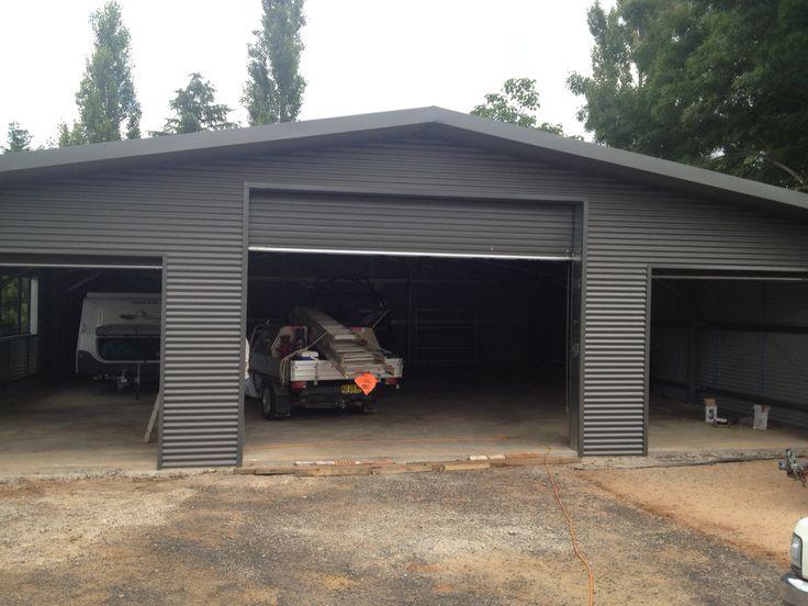 Custom Ultraspan shed in Orange. Horizontal clad challenging build. Built by Kieren Lee Plumbing & Construction 0428690696