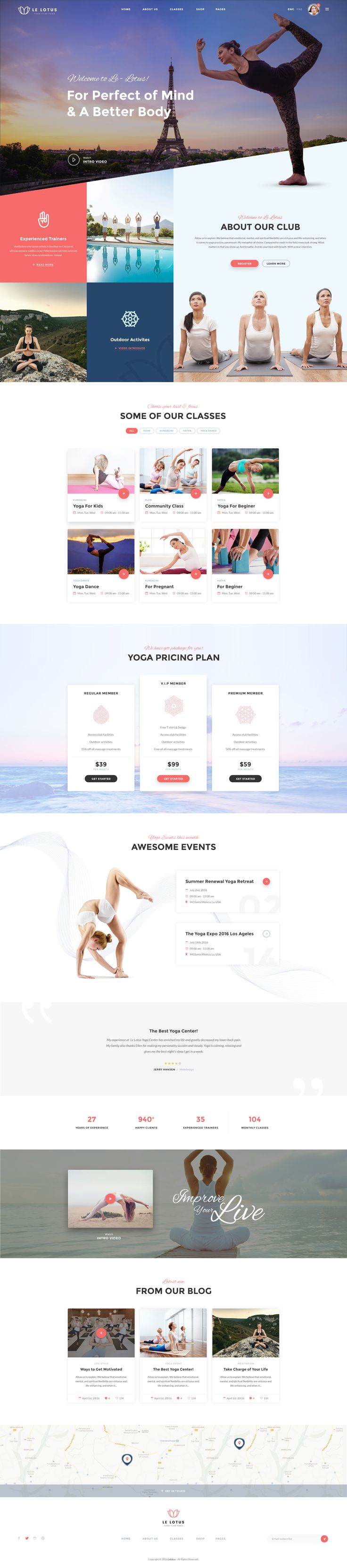 18 best yoga images on Pinterest | Website designs, Design websites ...