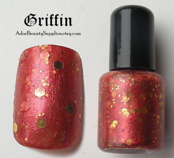 Griffin Nail Polish 8ml Vegan  Glitter by AdorBeautySupplies.