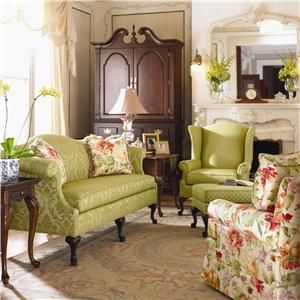 Kincaid Furniture Accent Chairs Wingback Accent Chair with Claw ...