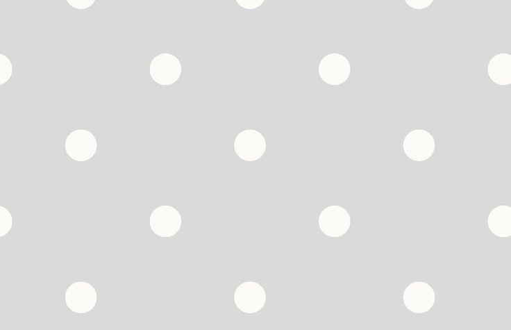 Papel pintado lunares vintage color gris telas papel for Papel pintado estrellas