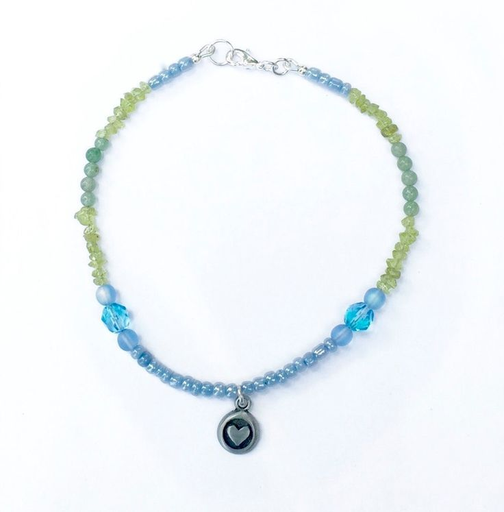 Just in: Green and Blue Beach Anklet, Gemstone Anklet, Peridot and Aventurine Anklet, Heart Anklet https://www.etsy.com/listing/465881423/green-and-blue-beach-anklet-gemstone?utm_campaign=crowdfire&utm_content=crowdfire&utm_medium=social&utm_source=pinterest