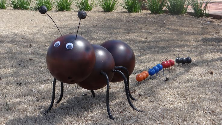 Bowling ball and golf ball ants.  No idea on how to make, but a neat idea.