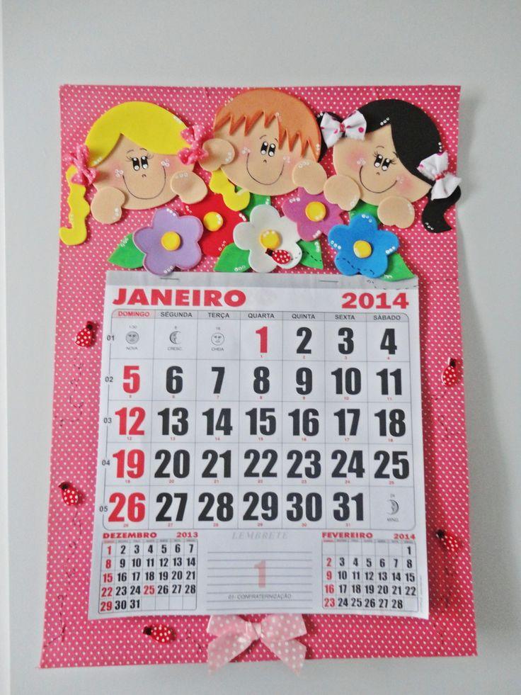 Calendario em eva
