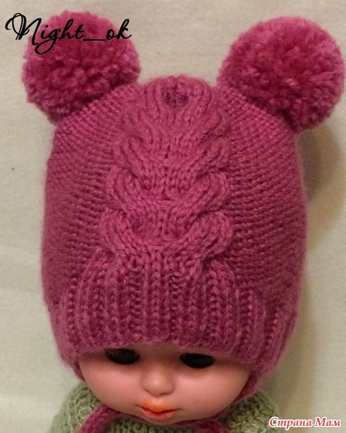 История началась с шапочки, которую я связала своей младшей дочке. Но связать - это полдела, это быстро...