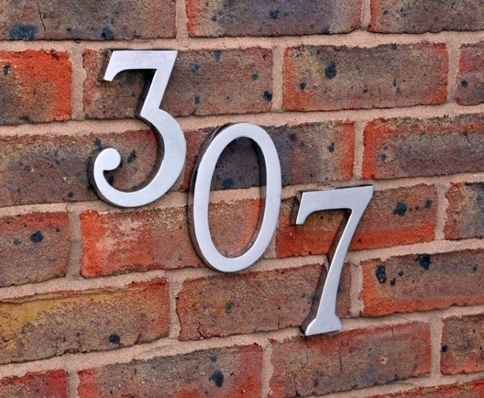 25 Best Ideas About Large House Numbers On Pinterest