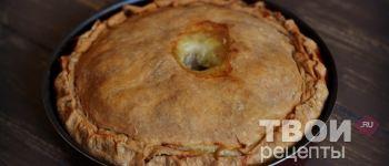 Пирог с индейкой - рецепт с фото.