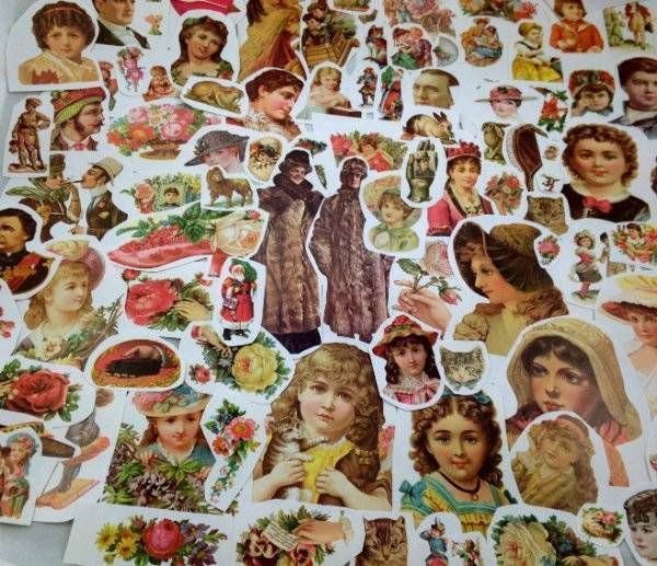 100s Victorian Vtg Paper Illustrations Ephemera Women Scrapbook Adverts Crafts