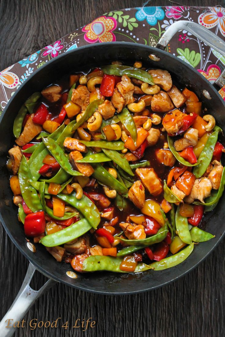 Kung Pao Chicken. This recipe is to die for. Done in just 20 minutes and you can use any protein of your choice. You can also keep it vegetarian. #glutenfree #asianfood