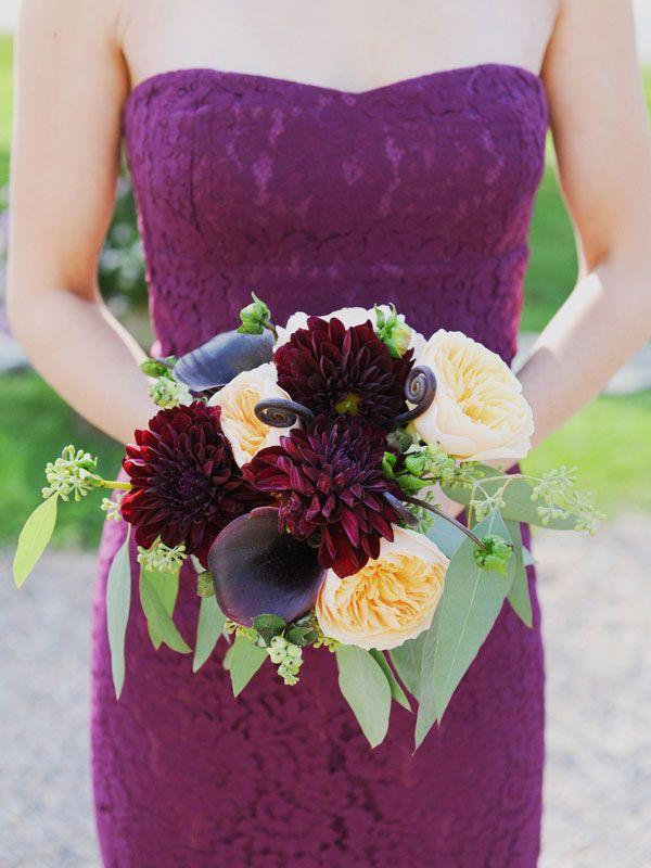 Lace J.Crew Bridesmaid dress - Purple   Plum + Peach Vintage Vermont Wedding  www.christaelyce.com