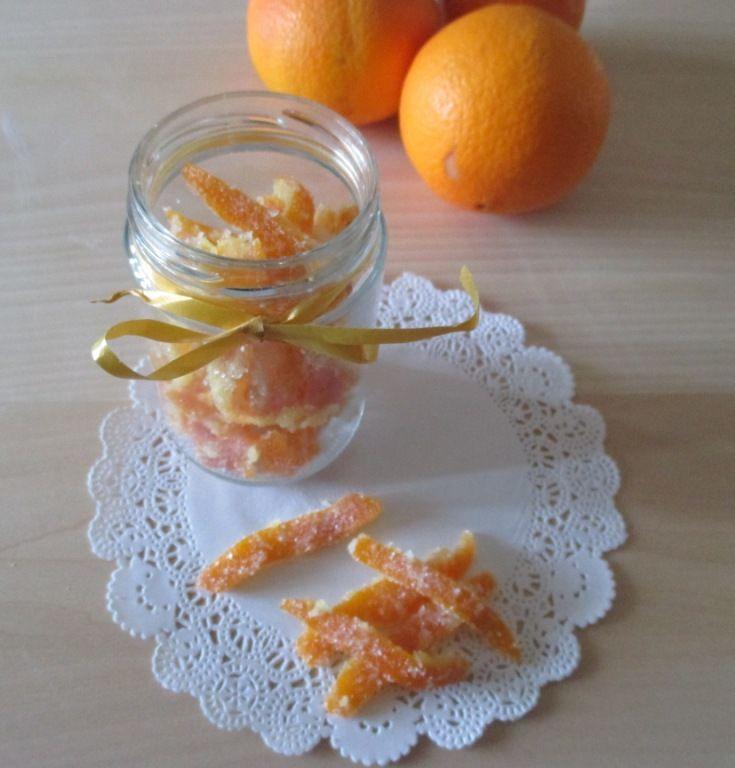 Scorzette di arancia candite, procedimento facile
