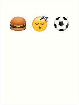Eat Sleep Soccer Emoji Emoticon Funny Graphic Tee Shirt