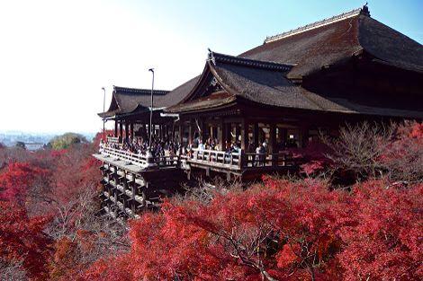 Kiyomizu- dera / Temple in autumn.